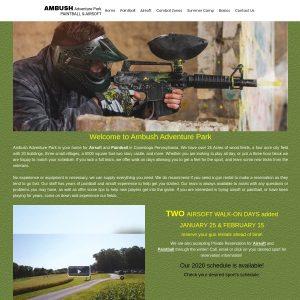 Ambush Paintball & Airsoft website screenshot