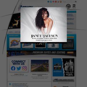Amway Center website screenshot