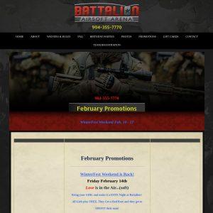 Battalion Airsoft Arena website screenshot