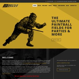 Battle Creek Paintball website screenshot