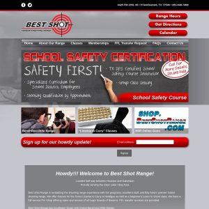 Best Shot Range website screenshot