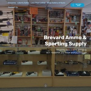Gun Store, Brevard Ammo and Sporting Supply website screenshot