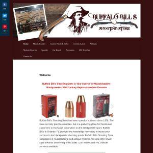 Buffalo Bill's Shooting Store website screenshot
