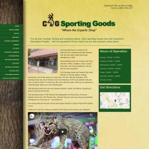 C & G Sporting Goods website screenshot