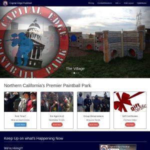 Capital Edge Paintball Park website screenshot