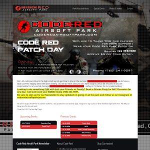 Code Red Airsoft Park website screenshot