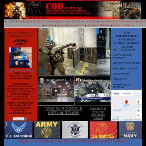 CQB City website screenshot