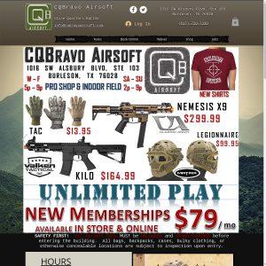 Cqbravo Airsoft website screenshot