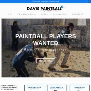 Davis Paintball Center website screenshot