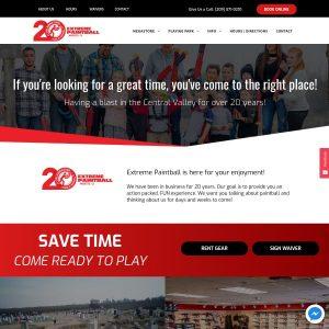 Extreme Paintball Park website screenshot