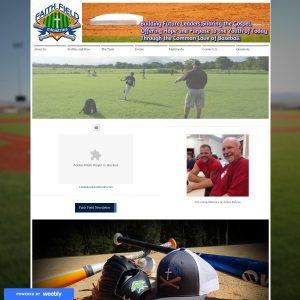 Faith Field website screenshot