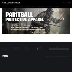 Field Armor Paintball Gear website screenshot