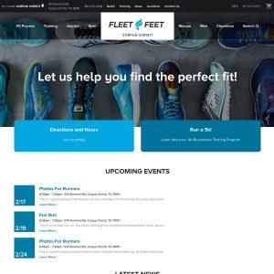 Fleet Feet Sports website screenshot