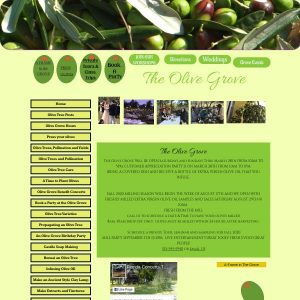 Olive Grove website screenshot