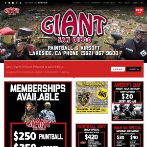 Giant Paintball Airsoft Park website screenshot