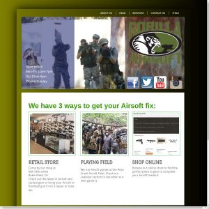 Gorilla Airsoft website screenshot