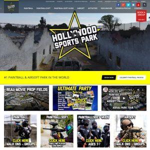 Haunted Hollywood Sports website screenshot