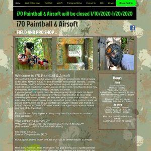 I-70 Paintball website screenshot