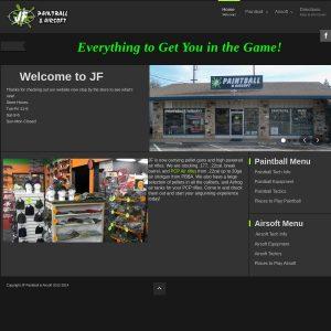 JF Paintball website screenshot