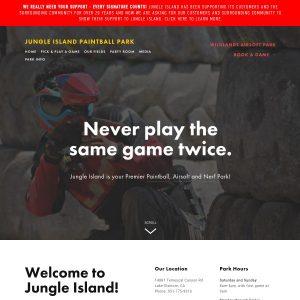 Jungle Island website screenshot