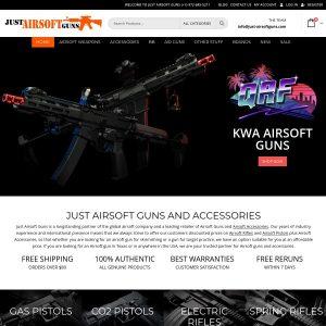Just Airsoft Guns website screenshot