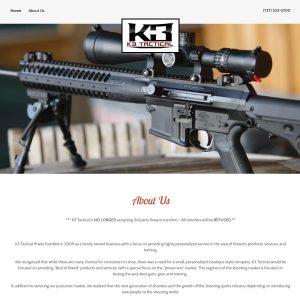 K3 Tactical website screenshot