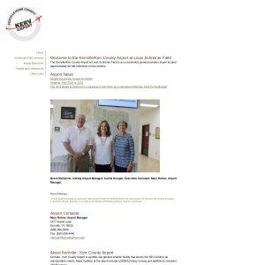 Kerrville Municipal/Louis Schreiner Field website screenshot