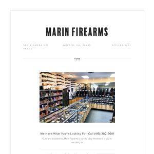 Marin Firearms website screenshot