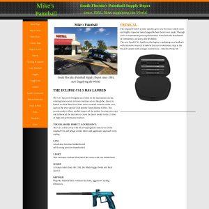 Mike's Paintball website screenshot