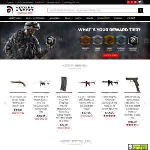 Modern Airsoft website screenshot