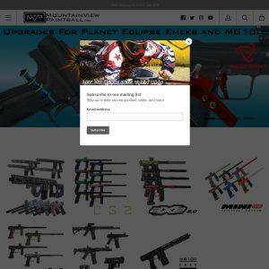 Mountain View Paintball website screenshot