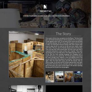 Project N1 Indoor Airsoft Field website screenshot