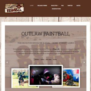Outlaw Paintball website screenshot