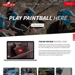 Fun On The Run Paintball website screenshot