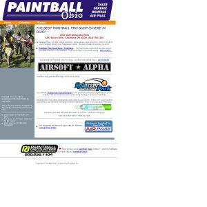 Paintball Ohio website screenshot