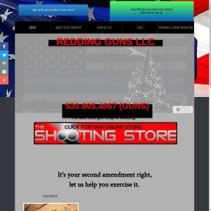 Redding Guns website screenshot