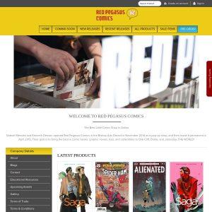 Red Pegasus Comics website screenshot