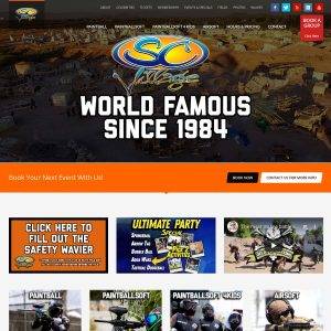 SC Village Airsoft Park website screenshot