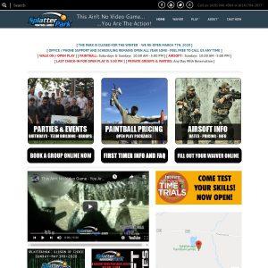 Splatterpark Paintball Games website screenshot
