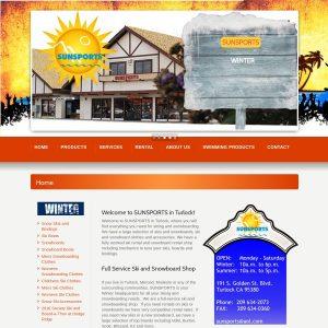 Sunsports website screenshot