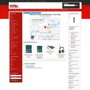 Tampa Tactical Supply website screenshot
