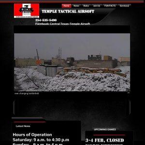 Temple Airsoft website screenshot