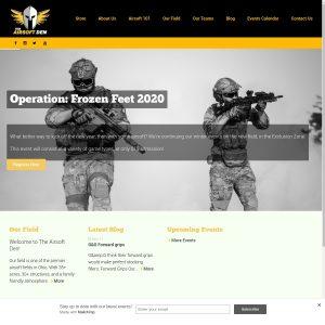 The Airsoft Den website screenshot