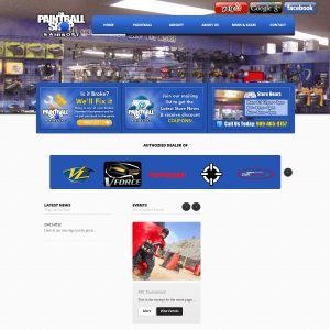 Airsoft Shop website screenshot