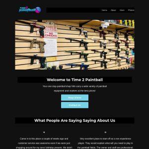Time 2 Paintball website screenshot