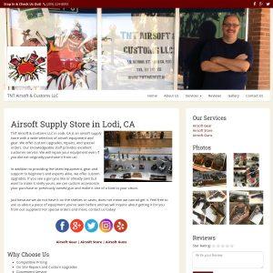 TNT Airsoft & Customs website screenshot