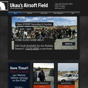 Ukau's Airsoft Field website screenshot