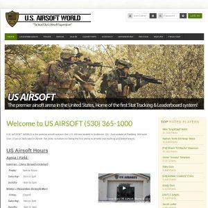 US Airsoft World Inc website screenshot