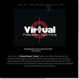 Virtual Firearm Tactics website screenshot