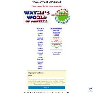 Wayne's World Of Paintball website screenshot